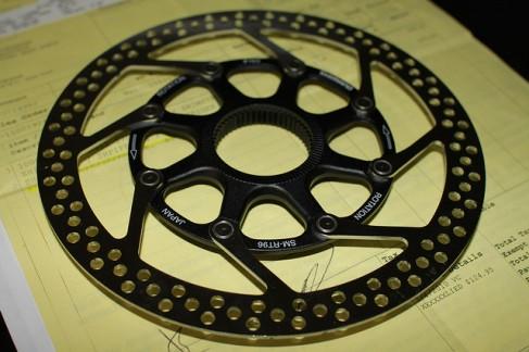 First Shimano Center-Lock disc rotor: XTR 960 SM-RT96