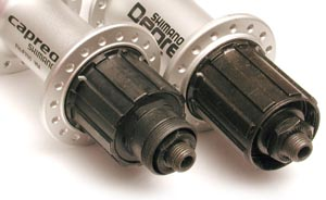 The Capreo freehub body has a special design to fit smaller 9 and 10 tooth sprockets in small wheeled bicycles