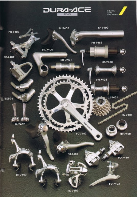 In 1990 Shimano's Dura-Ace pushed Campagnolo into the background for the first time in 50 years of road racing tradition