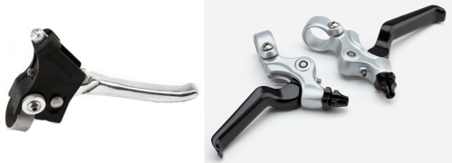 Left: former brake lever Right: 2013 design