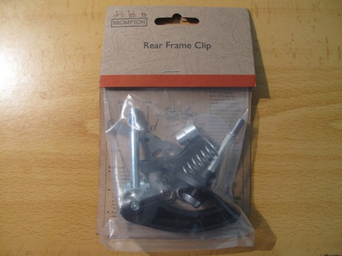 Brompton rear frame clip for older models