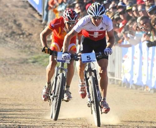 Mundial de Canberra - Australia, septiembre 2009. Foto de Vogel y Hermida terminando al sprint