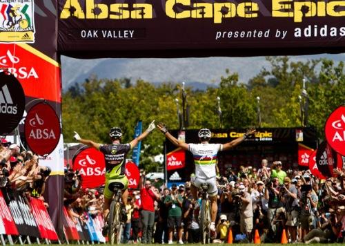 Foto de la victoria en la 6ª etapa de 128 km. 2 de abril de 2011