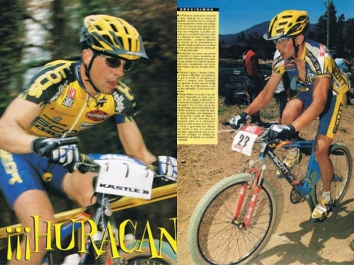 Fotos de revista del año 1999 corriendo para Scott