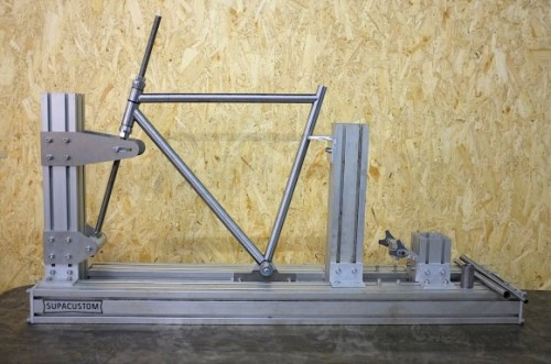 Supacustom bicycle and motorcycle frame jig